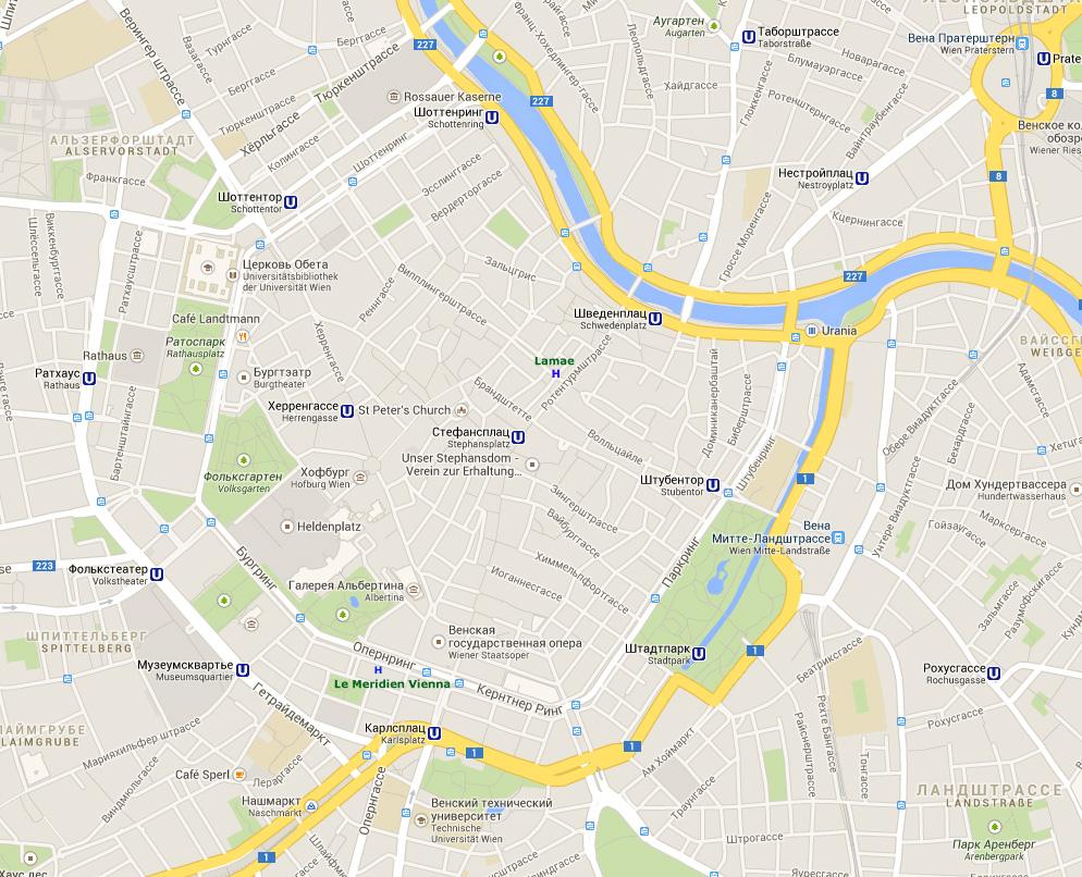 скачать карта вены на русском языке с достопримечательностями - фото 8